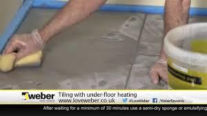 Suntouch Heated Floor Not Working tiling with under floor heating youtube