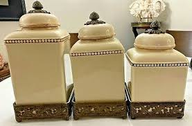 Ceramic Kitchen Canister Sets The Gg Collection 3 Ceramic Kitchen Canister Set W
