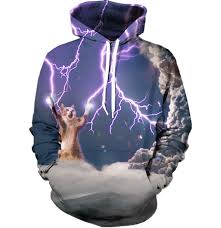 cat hoodies lightning cat hoodie all print apparel getonfleek