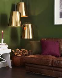 waldgrün beere und gold wohnzimmer wand designs haus