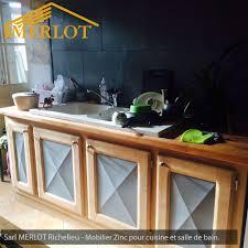 habillage cuisine mobilier zinc façade et crédence de cuisine en zinc habillage de