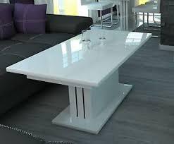 details zu couchtisch weiss hochglanz wohnzimmertisch sofatisch tisch weiß wohnzimmer 120cm