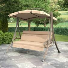 Menards Porch Swing 2 Seat Chair Style Sienna Canopy And Cushion 0