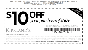 Kirkland's $10 Off Coupon Through September 16   Free Printable ... Kirkland Top Coupons Promo Codes The Good And The Beautiful Coupon Code Coupon Wwwkirklandssurveycom Kirklands Customer Coupon Survey Up To 50 Off Christmas Decor At Cobra Radar Costco Canada Book 2018 Frys Electronics Black Friday Ads Sales Doorbusters Deals Pin By Ann On Coupons Free 15 Off Or Online Via Promo Allposters Free Shipping 20 Ugg Store Sf Green China Sirius Acvation Codes Pillows 2