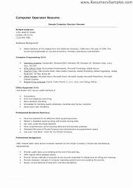 Skills For A Job Resume Puter Example Template Of