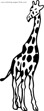 Giraffe Color Page Animal Coloring Pages Plate Sheetprintable