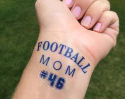 Football Mom Tattoo Season Game Day Temp Fake