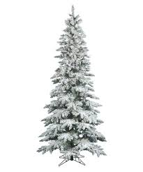 Vickerman Pink Christmas Tree by Vickerman 12 Ft Flocked Slim Utica Fir Pre Lit Led Christmas Tree