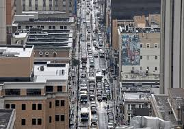 Traffic On Forbes Avenue Tuesday Aug 21 2018 In Oakland