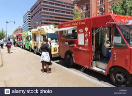 100 Food Trucks In Dc Today Trucks Line Up On An Urban Street Washington DC USA