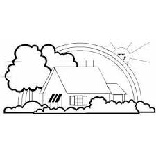 Creative Simple House Coloring Pages For Luxury Article