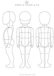 Kids Child Body Figure Fashion Template D I Y Your Own Sketchbook Keywords
