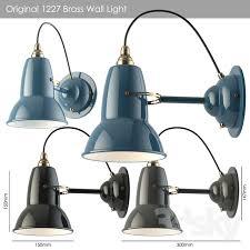 3d models wall light original 1227 brass wall light