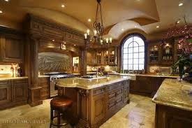 Rustic Italian Kitchen Design Country Red Cabinets Seven