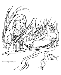 Free Moses Coloring Pages