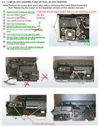 Sony Wega Lamp Replacement Instructions Kdf E42a10 by I Have A Sony Kdf 55e2000 I Just Changed The Lamp And Notice A 6