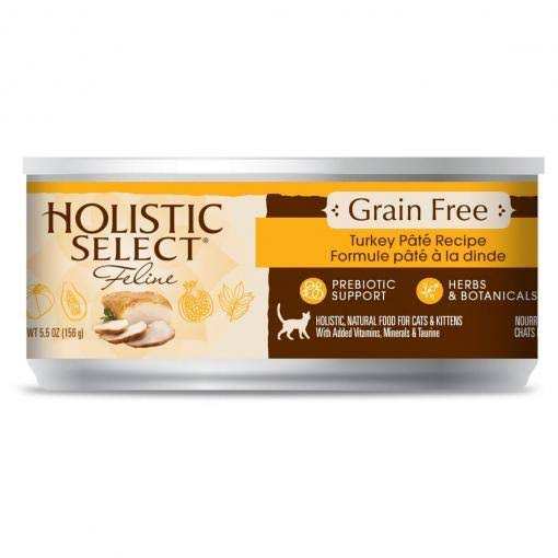 Holistic Select Canned Cat Food - Turkey, 156g