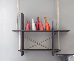 réaliser une étagère suspendue maison créative
