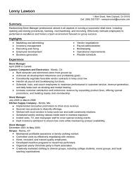 store manager resume template saneme