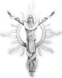 Tribal Tattoo Inca Sun God