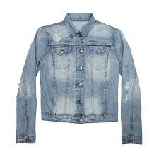 womens denim jacket in light vintage 75 dstld