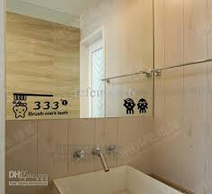 Decals For Bathrooms by Incredible Bathroom Mirror Stickers Children Brush Teeth Decal