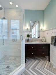 Light Teal Bathroom Ideas by Photos Hgtv Black And White Bathroom With Bold Tree Wallpaper