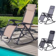 Details About Outsunny Zero Gravity Reclining Lounge Chair Patio Rocker  Home Office Napping Phi Villa Outdoor Patio Metal Adjustable Relaxing Recliner Lounge Chair With Cushion Best Value Wicker Recliners The Choice Products Foldable Zero Gravity Rocking Wheadrest Pillow Black Wooden Recling Beach Pool Sun Lounger Buy Loungerwooden Chairwooden Product On Details About 2pc Folding Chairs Yard Khaki Goplus Wutility Tray Beige Headrest Freeport Park Southwold Chaise Yardeen 2 Pack Poolside