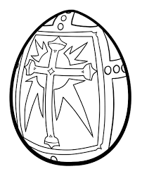 Plain Easter Egg Coloring Pages