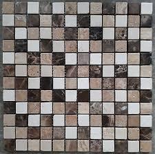 naturstein fliesen travertin mosaik 30 x 30 cm braun creme matte badezimmer neu ebay