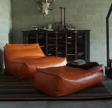 Verzonelli Zoe Armchair And Pouf Leather ChairsLeather Bean Bag