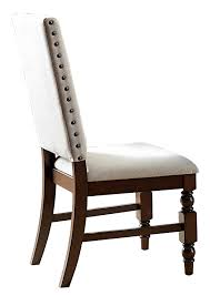 Upholstered Dining Chairs With Nailheads by Amazon Com Homelegance 5167fs Fabric Dining Chair With Nailheads