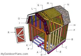 12x12 Shed Plans With Loft 12x12 gambrel shed roof plans myoutdoorplans free woodworking