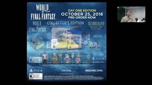 Theatrhythm Final Fantasy Curtain Call Limited Edition by World Of Final Fantasy Collectors Edition Rant Youtube