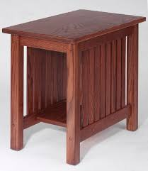 Mission Solid Oak Chair Side Table - 15