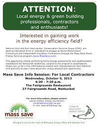 mass save town of nantucket energy office