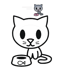 Trend Cute Cat Coloring Pages 44 On For Kids Online With