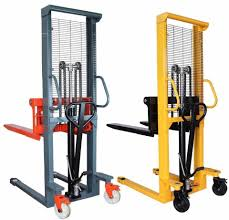 100 Hydraulic Hand Truck 2 Ton 16M Pallet Stacker Manual Forklift