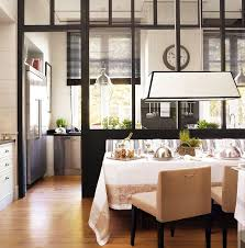 Glass Partition Separates Dining From Kitchen Amp Pantry W Out Rooms