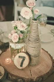 Burlap Lace Wedding Centerpieces