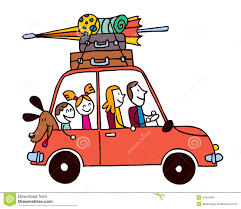Traveling By Car Clipart