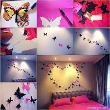 Paper Art For Wall Decoration Butterfly Bright And Beautiful Decor Ideas