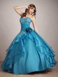 turquoise ball gown strapless sweetheart lace up full length