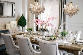 Chandelier Over Dining Room Table by Design Inspirations For Our New Dining Room U2014 Classy Glam Living