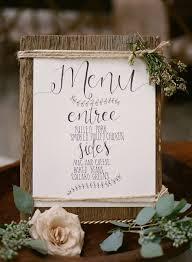 Rustic Wedding Menu Best Photos