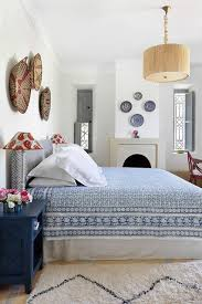 A Blue And White Moroccan Bedroom With Pretty Delft Palette An Indian