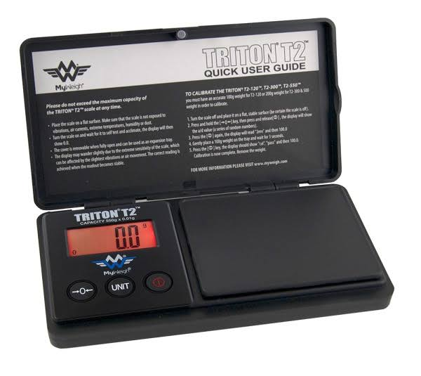 Myweigh Triton T2 550 Fine Scale 550g/0,1g Pocket Scale Black Scale Digital