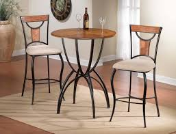Walmart Pub Style Dining Room Tables by Furniture Enjoy Your Dining Time With Bistro Table And Chairs