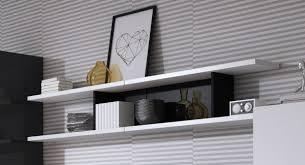 wandregal 186cm weiß schwarz glas wandboard modern regal wohnzimmer
