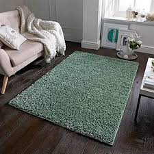 the rug shop uk elsa salbei grün moderner shaggy uni